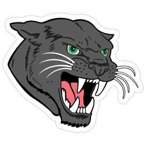 Black Panther Head Mascot Sticker