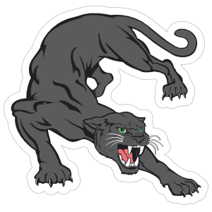 Black Panther Mascot Sticker