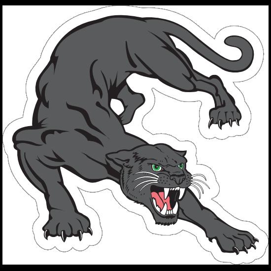 Black Panther Mascot Sticker