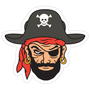 Blackbeard Pirate Mascot Sticker