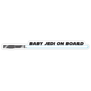 Blue Baby Jedi on Board Sticker