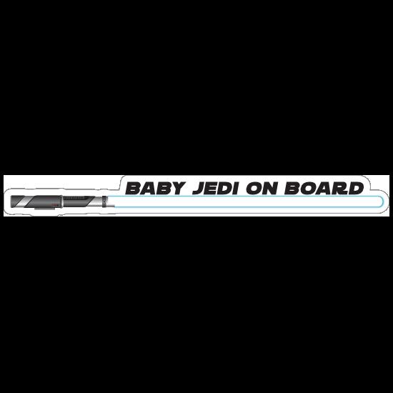 Blue Baby Jedi on Board Sticker