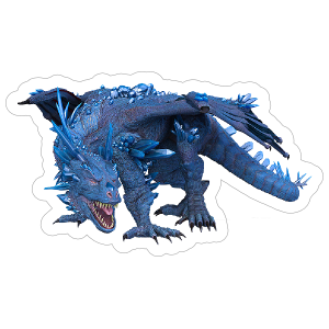 Blue Crystal Dragon Sticker