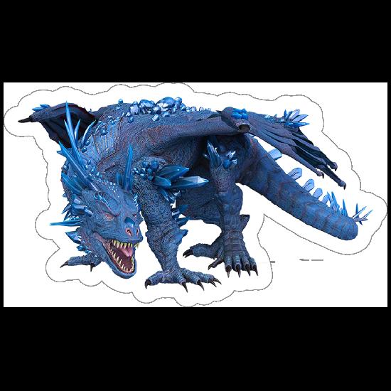 Blue Crystal Dragon Sticker