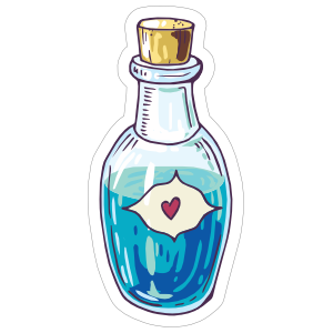 Blue Liquid Vial Boho Sticker