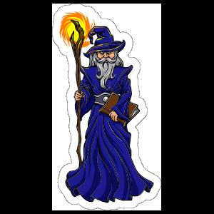 Blue Robed Wizard Sticker