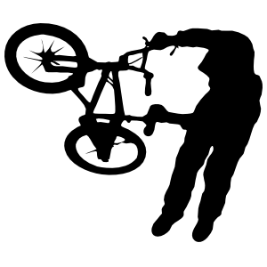 Bmx Bicyclist Doing A Trick Sticker