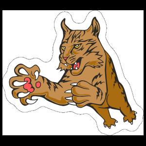 Bobcat Mascot Sticker