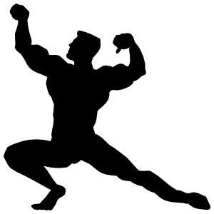 Male Body Builder Sticker
