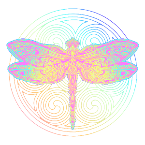 BoHo Graphic Dragonfly Sticker