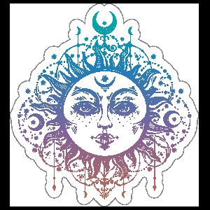 Boho Moon Goddess Sticker
