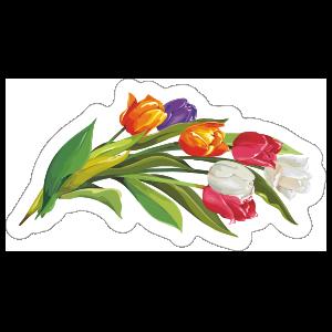 Bouquet Tulip Flower Sticker