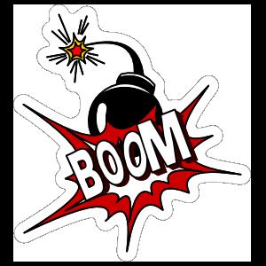 Boom Graphic Comic Sticker
