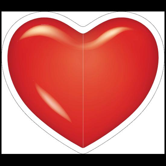 Bright Red Heart Sticker