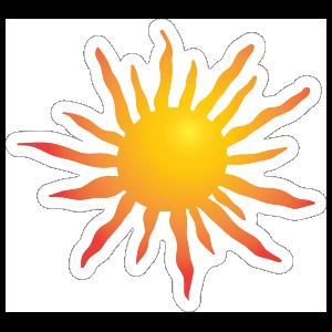Bright Sun Sticker