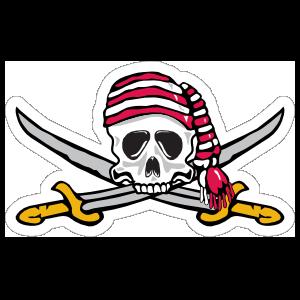 Buccaneers Mascot Sticker
