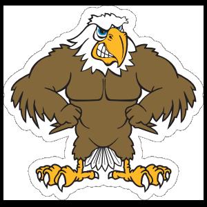 Buff Eagle Mascot Sticker
