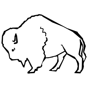 Buffalo Outline Sticker