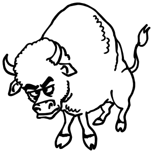 Angry Buffalo Sticker