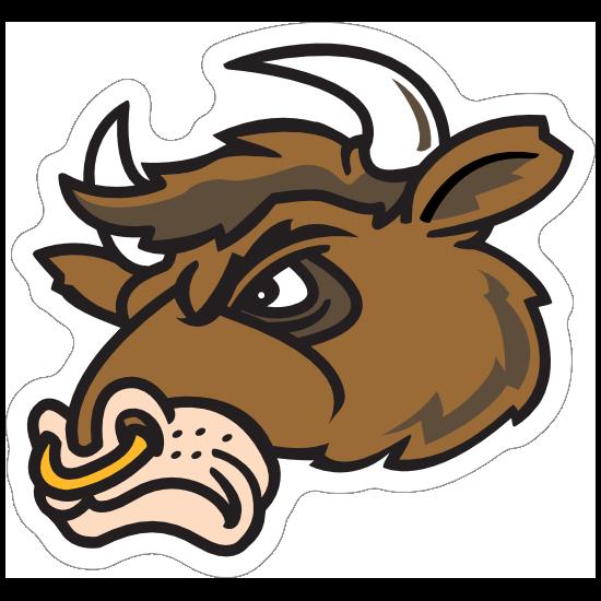 Bull Head Mascot Sticker