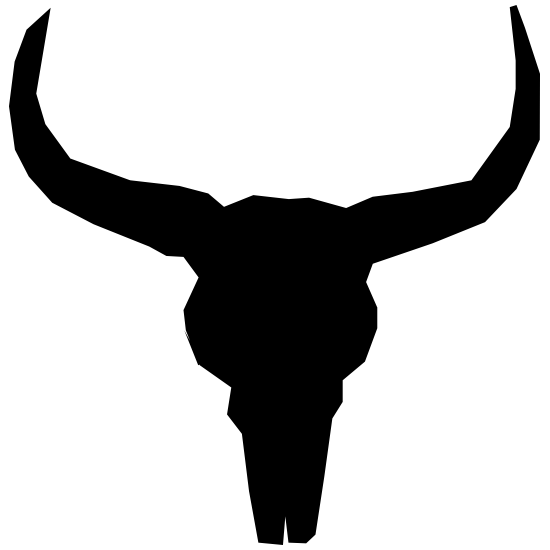Bull Cow Horns Skull Sticker