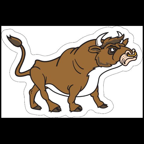 Bull Mascot Sticker