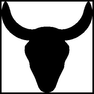 Bull Skull Silhouette Sticker