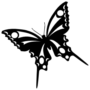 Butterfly with Circles Sticker
