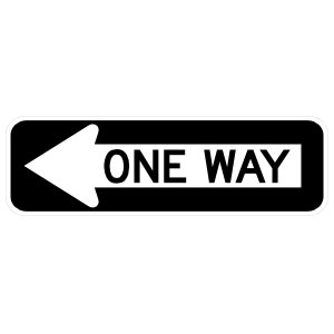 One Way, Arrow Sticker