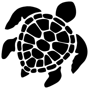 Graceful Sea Turtle Sticker