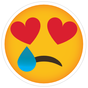 Phone Emoji Sticker Heart Eyes Heartbroken