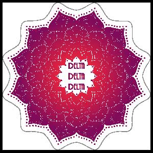 Purple and Red Delta Delta Delta Mandala Sticker