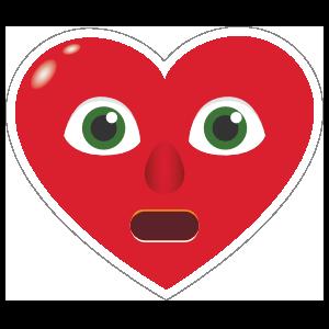 Phone Emoji Sticker Heart Face In Shock