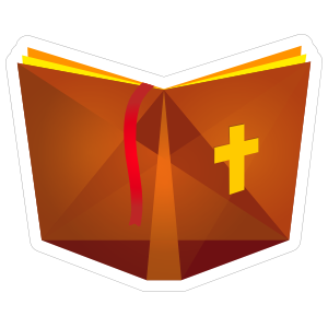Bible with Cross Sticker