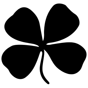 Awesome Four Leaf Clover Sticker