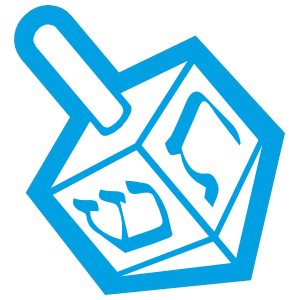 Jewish Dreidel Sticker