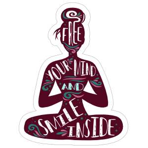 Free Your Mind and Smile Inside Yoga Sticker