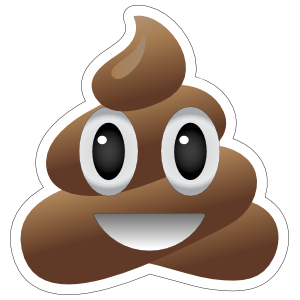 Smiling Poop Emoji Sticker