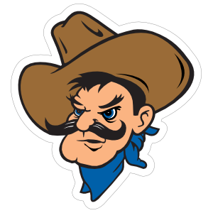 Caballero Head Mascot Sticker