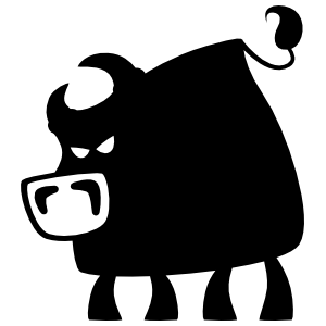 Cartoon Bull Sticker With Big Nose Sticker