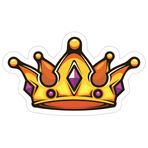 Cartoon Crown with Amethyst Sticker