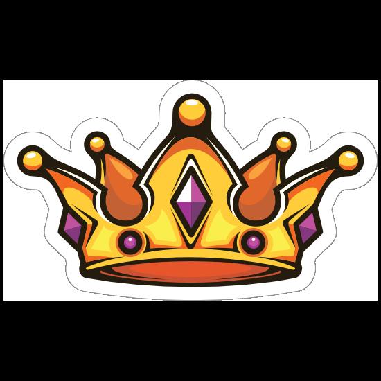 Cartoon Crown with Amethyst Sticker