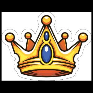 Cartoon Crown with Sapphires Sticker