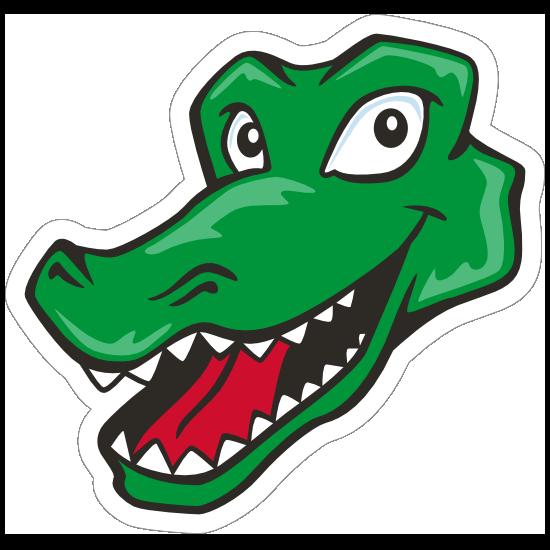 Cartoon Gator Head Mascot Sticker