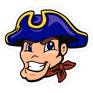 Cartoon Patriot Mascot Sticker