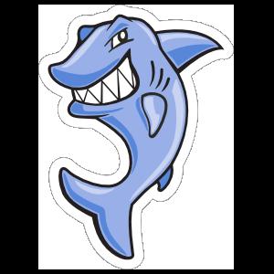 Cartoon Shark Mascot Sticker