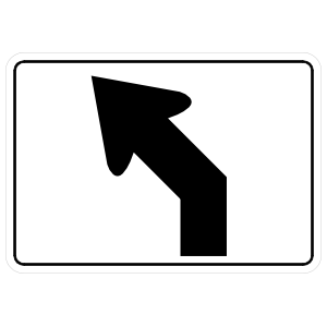 Wide Left Turn Arrow Sticker