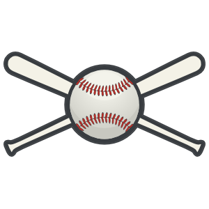 Baseball or Softball with Crossed Bats Sticker