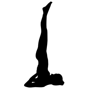 Shoulderstand Yoga Pose Sticker