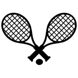Tennis Racquets And Ball Sticker